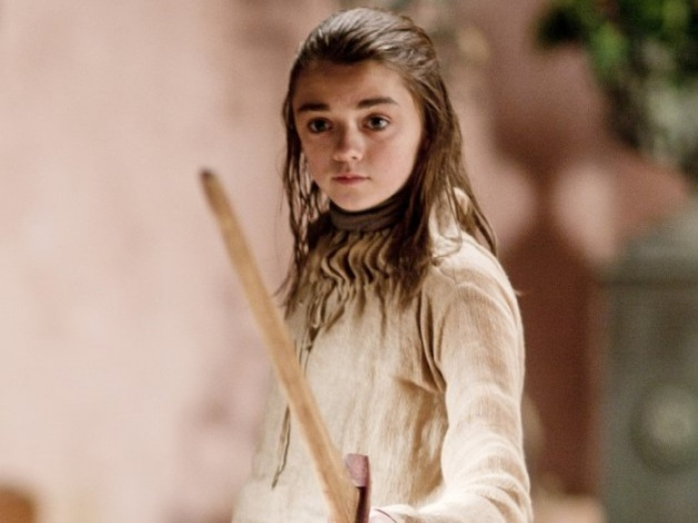 My only problem is that Arya is still a child, not yet a woman. Too ...