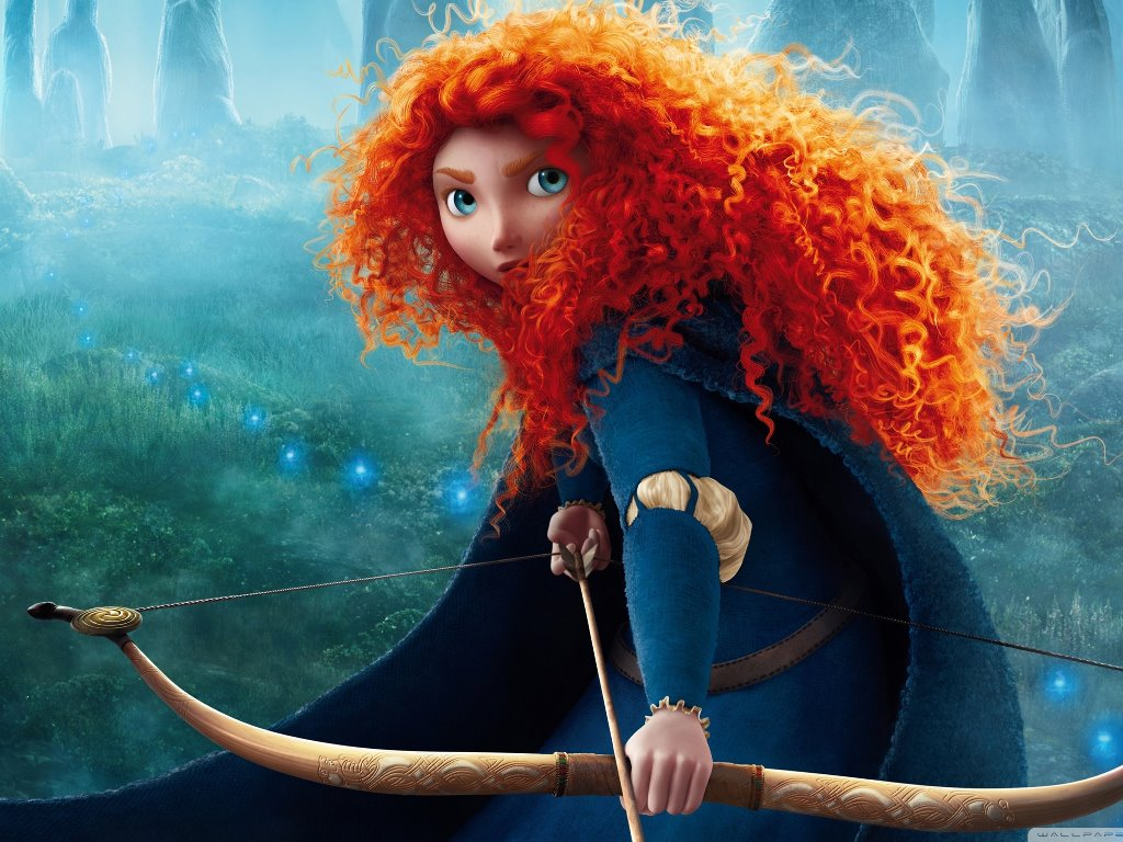 It is a picture of Wild Pictures of Merida From Brave