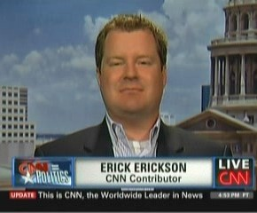 Asshat CNN Contributor Erick Erickson Wants to Silence Powerful Women by Reducing Them to Vaginas