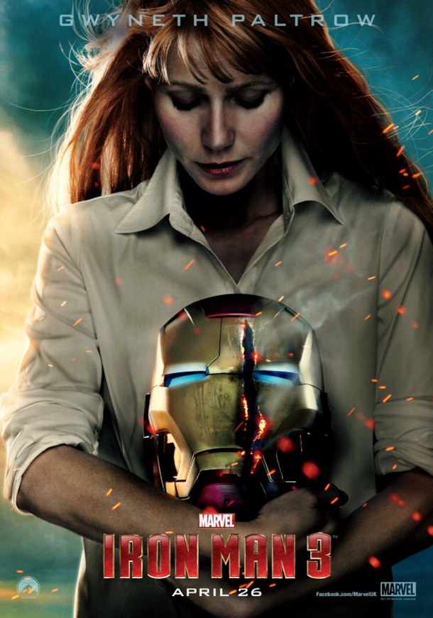 Iron Man 3 poster with Pepper Potts