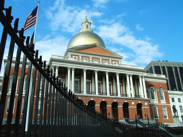 "Massachusetts State House by Coralie Mercier (""koalie"") via Flickr"